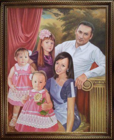 Семейный портрет маслом  — правильная традиция…
