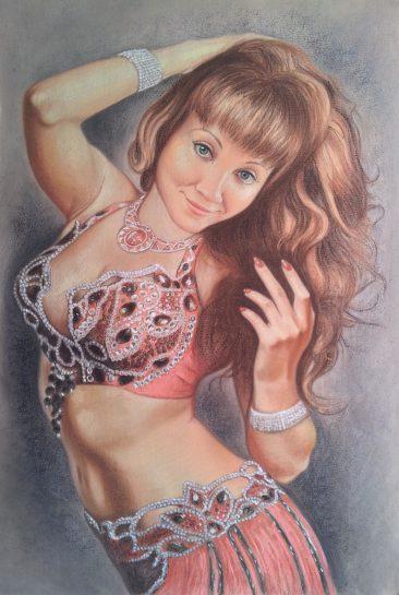 Портрет пастельными мелками