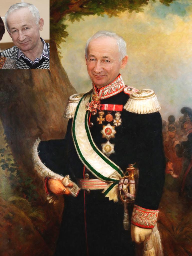 Где заказать исторический портрет по фото на холсте ?