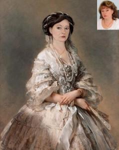 Дама в историческом наряде