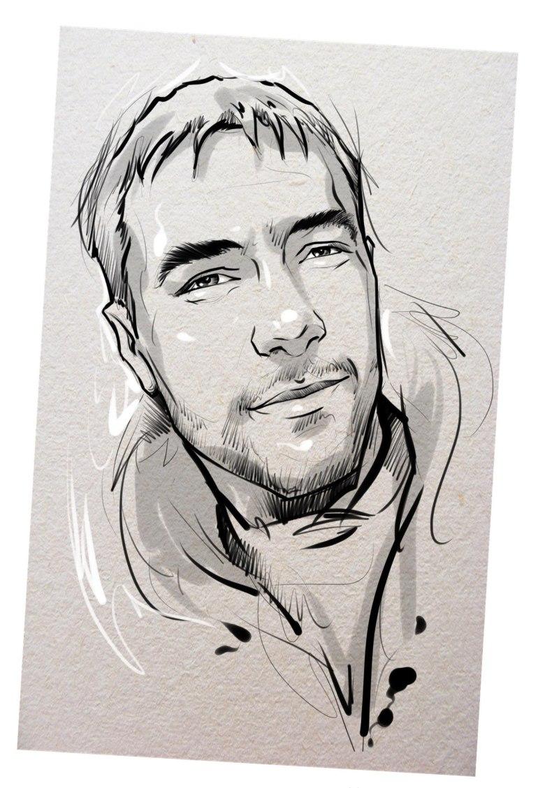 Портрет карандашом любимому мужу …