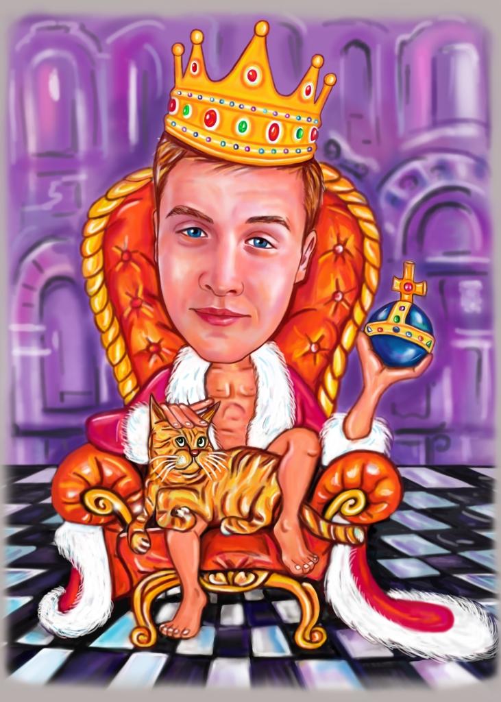заказать шарж царя