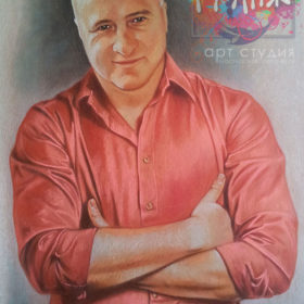 Заказать мужской портрет пастелью